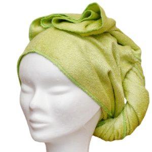 Serviette à cheveux vert