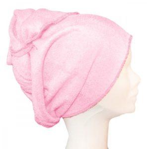 Serviette à cheveux rose